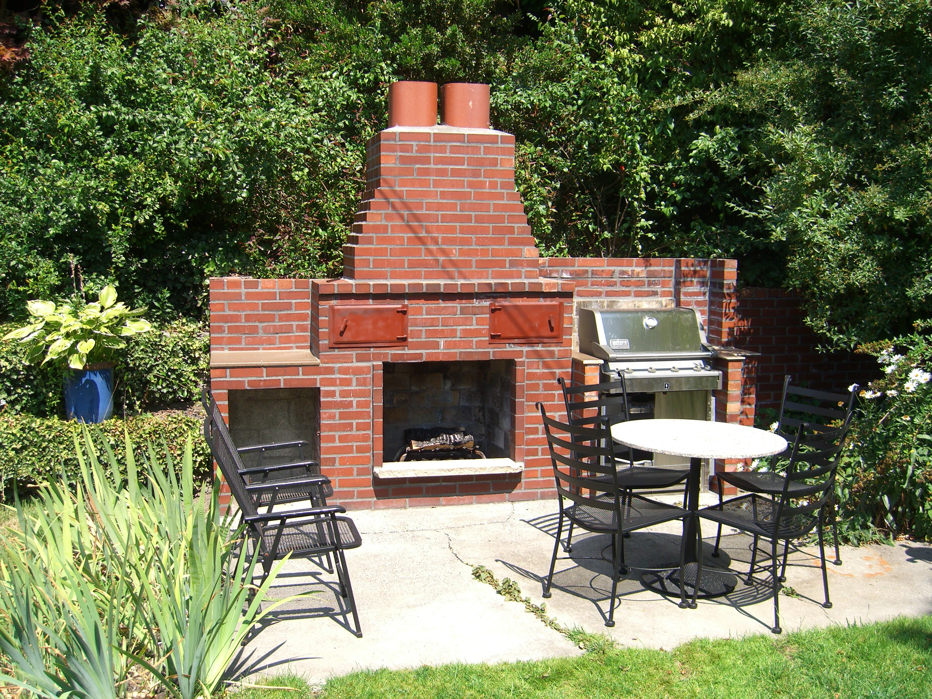 outdoor fireplaces brick outdoor fireplace cantrell restoration